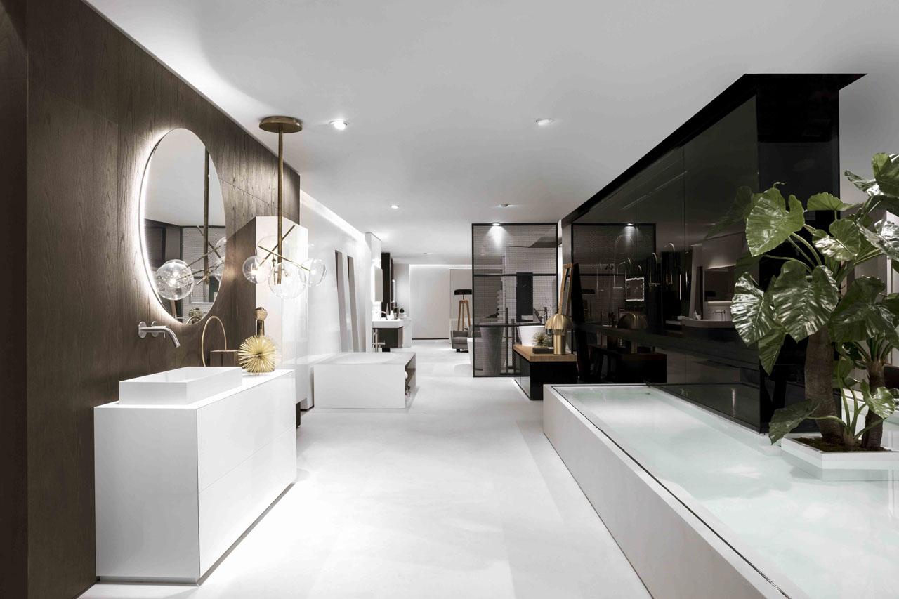 Falper-Paris flagship Cascade Boutique salles de bains, robinetterie, mobilier, baignoires, vaques, douches, hammam