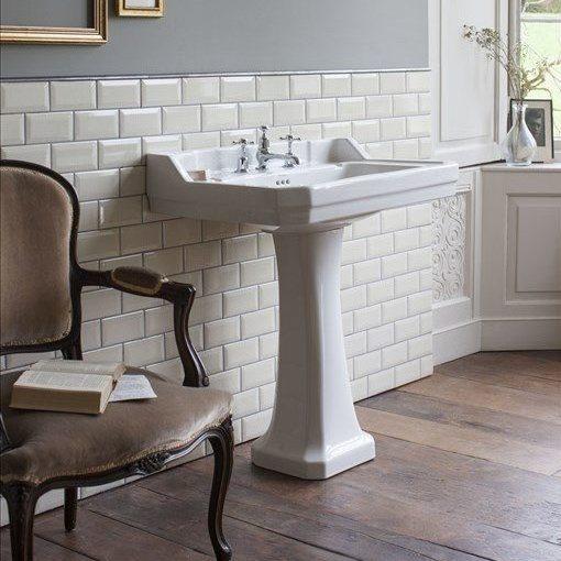 Burlington_lavabo colonne céramique rétro B5_1TH-TA