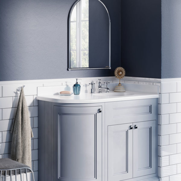 Burlington_meuble-vasque rétro à poser d'angle FC3G, plan en résine