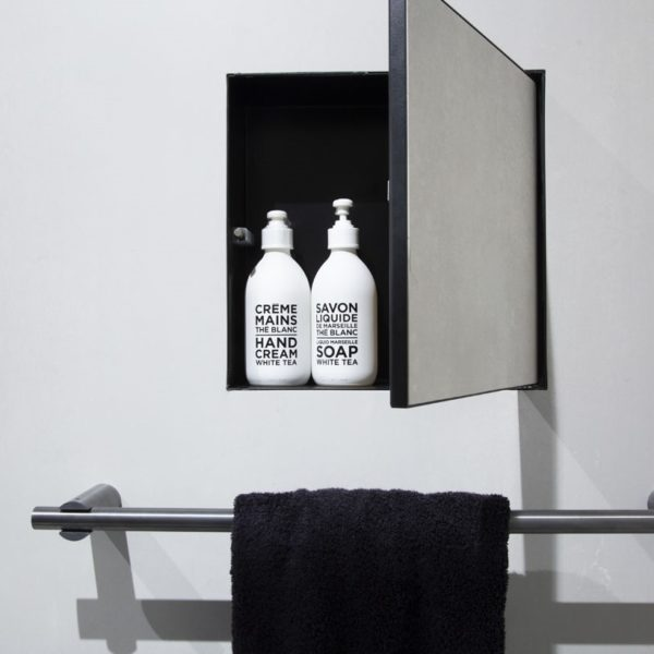 Ess_niche murale Box à carreler noir
