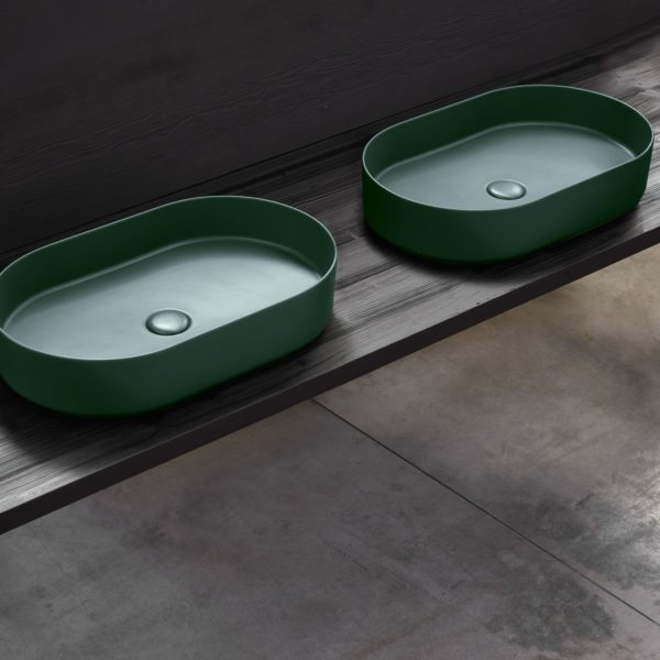 Cielo_vasque ovale Shui comfort en céramique muschio