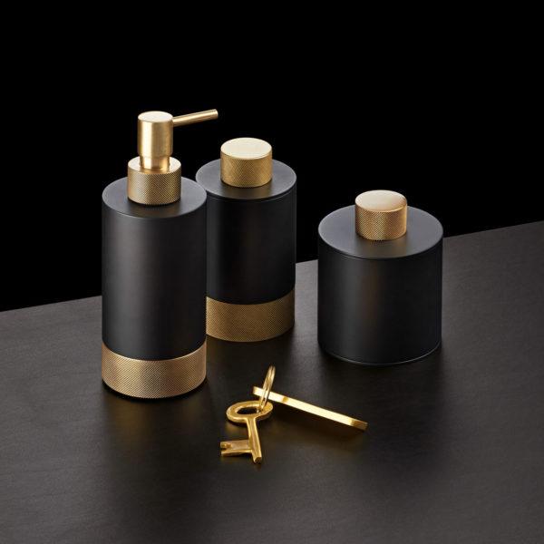 Decor Walther_ligne accessoires à poser Club Emo noir doré mat