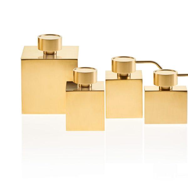 Decor Walther_ligne accessoires Cubic doré mat