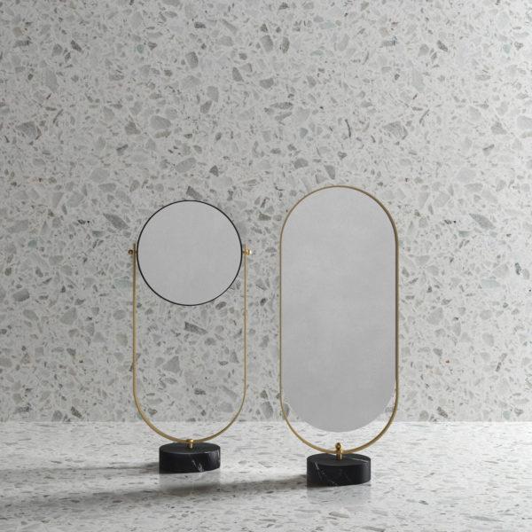 EX.t_Psychés Nouveau, marbre Marquina et brass
