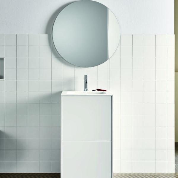 Rexa_lavabo colonne avec tiroirs Unico blanc mat