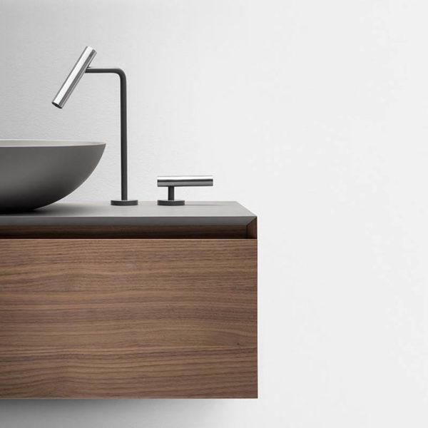 Falper-Paris_mitigeur lavabo Cilindro inox bicolore