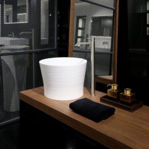 Falper-Paris_vasque à poser Handmade en Cristalplant blanc mat