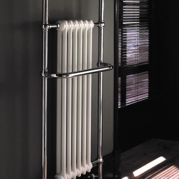 Imperial_Radiateur sèche-serviettes rétro Malmo chrome/blanc
