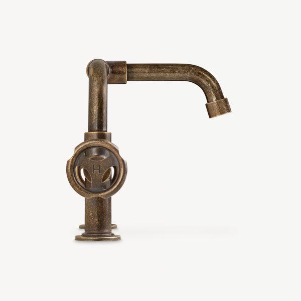 Lefroy Brooks_mélangeur lavabo 2 trous Ten ten bronze vieilli