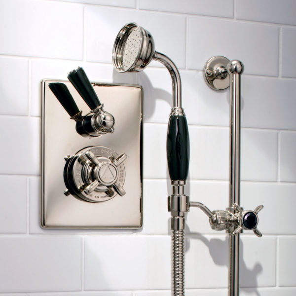 Lefroy Brooks_mitigeur douche Classic Black BL8717 nickel