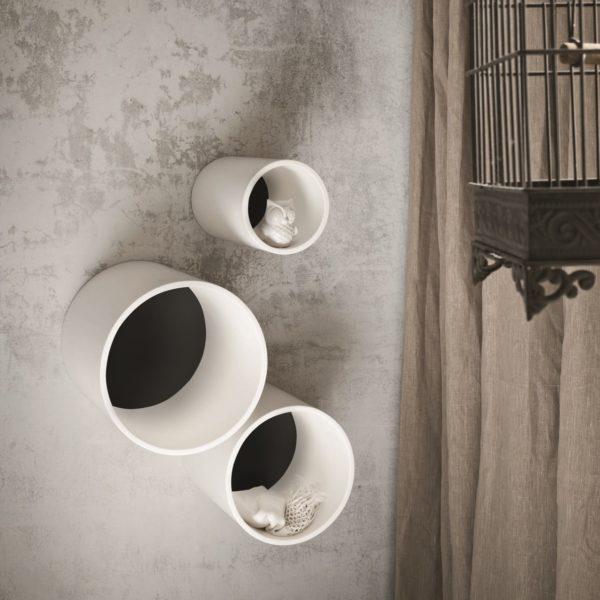 Cascade_rangements muraux Vogue en lastan blanc mat