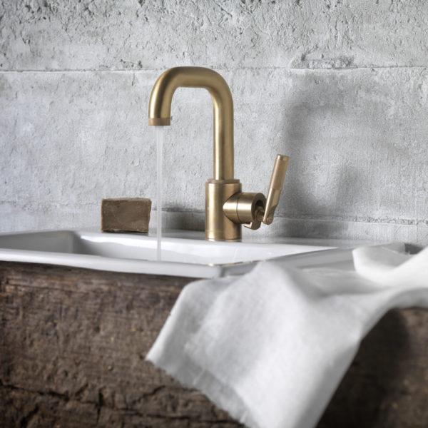 Samuel Heat_mitigeur lavabo Landmark dorè mat