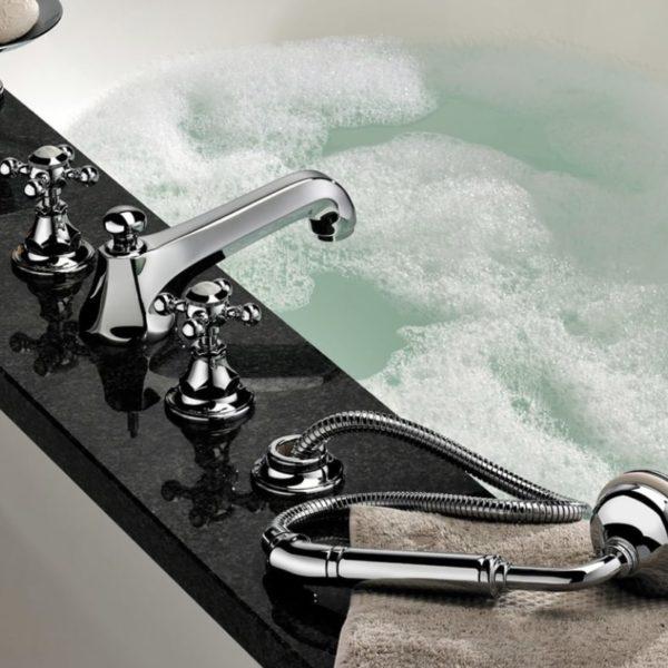 THG_mélangeur bain 4 trous Charleston chromé