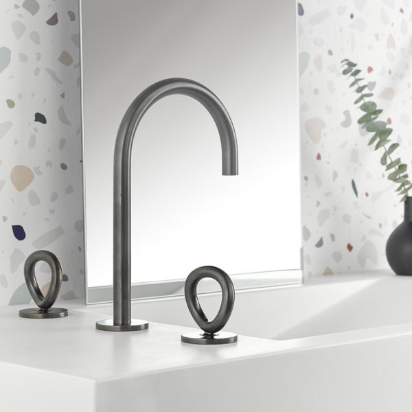 THG_mélangeur lavabo O anthracite clair PVD