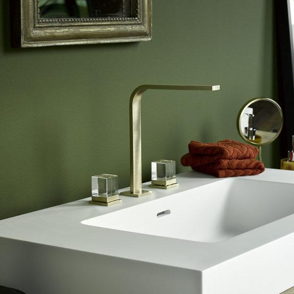 THG_mélangeur lavabo Soho doré-cristal