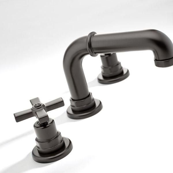 THG_mélangeur lavabo St Germain bronze noir ciré