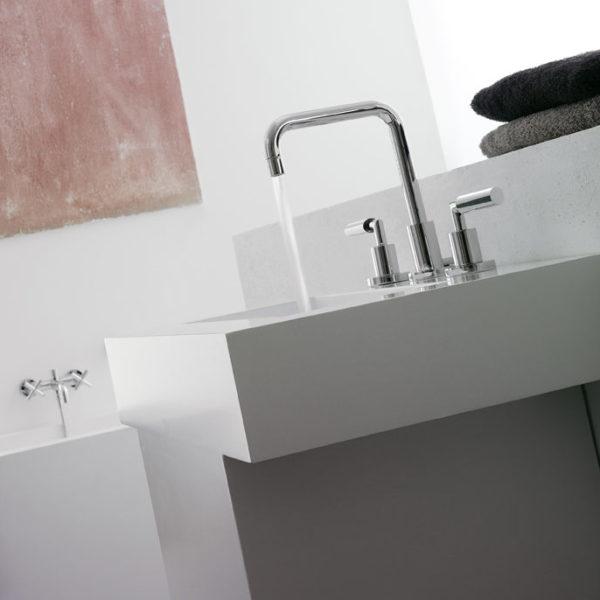 Zazzeri_Mélangeur lavabo ligne Dada mono chrome
