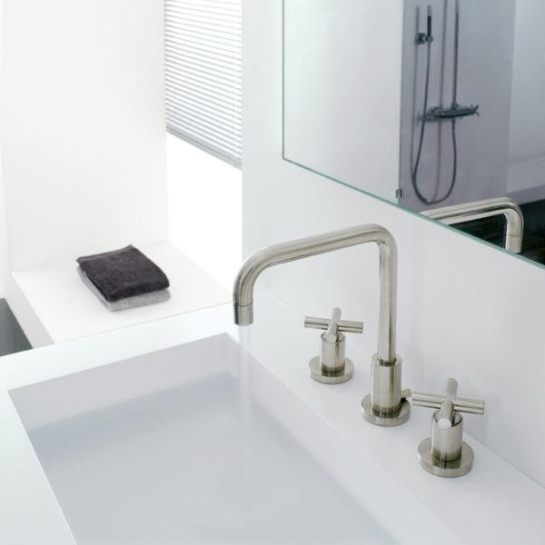 Zazzeri_Mélangeur lavabo ligne Dada nickel brossé