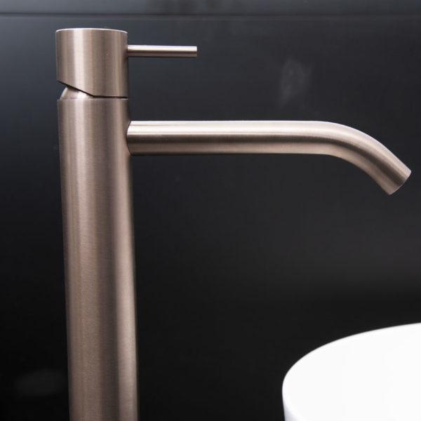 Zazzeri_mitigeur lavabo haut Z316 inox PVD bronze clair