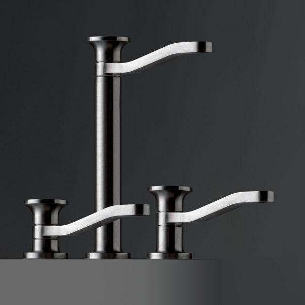 Zazzeri_mitigeurs lavabo JK21 inox brossé